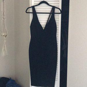 Lulus Deep Plunge Black Dress